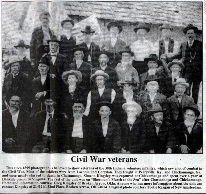 Veterans of the 38th IN in 1900